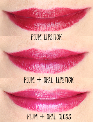 plum lipstick opal gloss opal lipstick swatches bite beauty