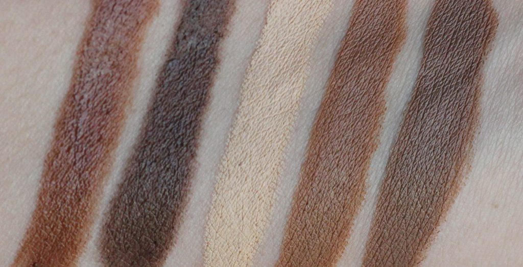 slenderizing and contouring stick swatches