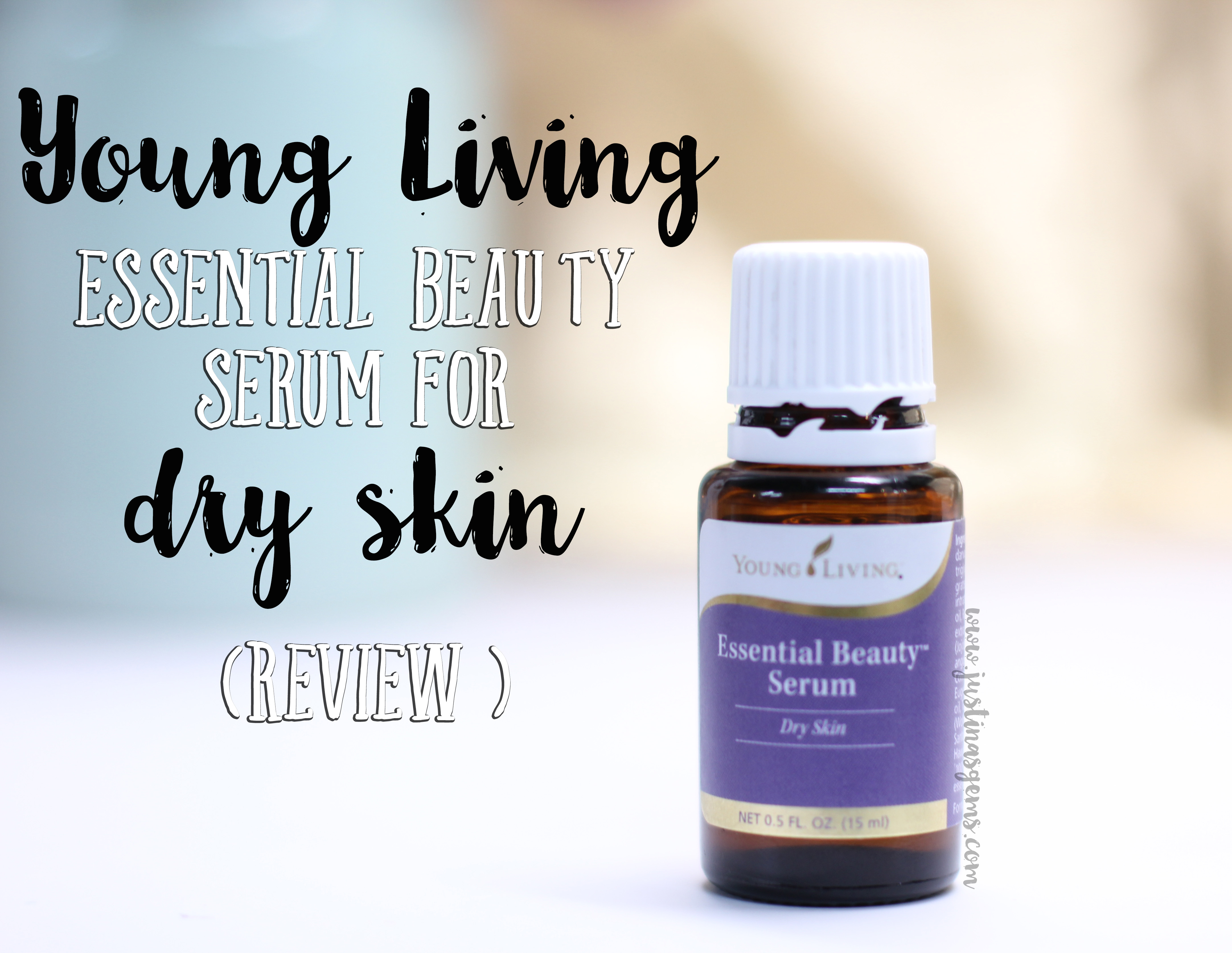Young Living Essential Beauty Serum For Dry Skin Justina