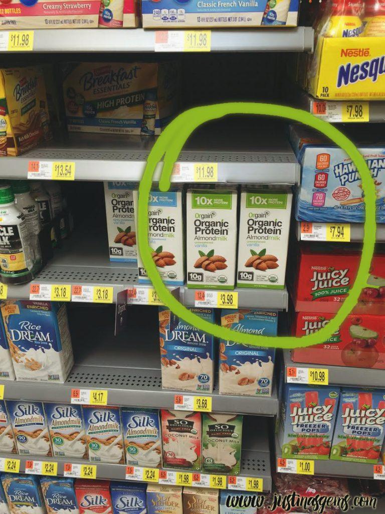 orgain protein almond milk