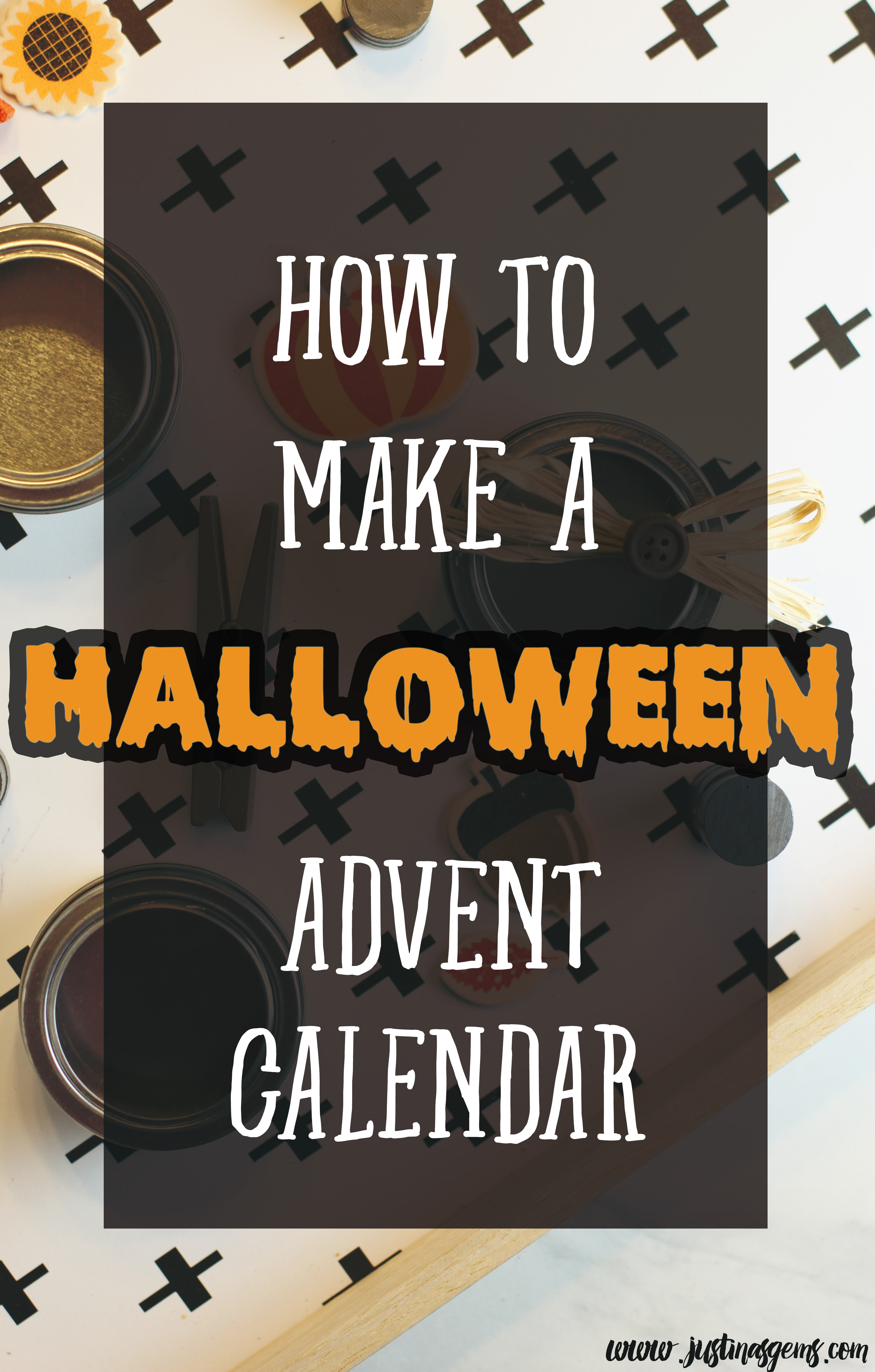 Diy halloween advent calendar justinas gems how to make a halloween advent calendar solutioingenieria