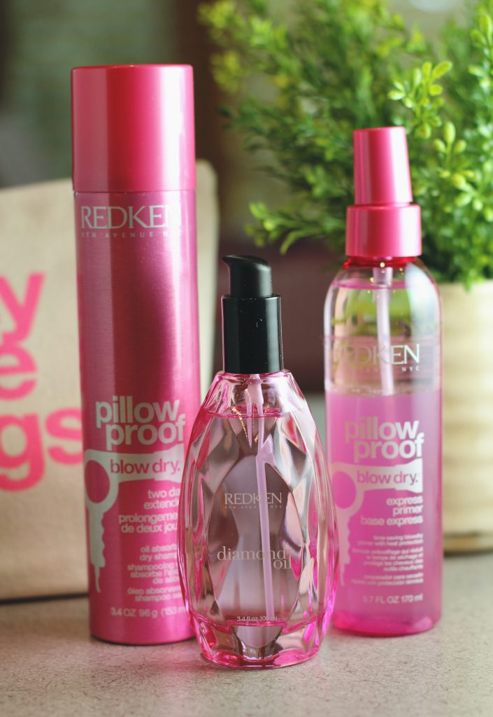 redken pillow proof and diamond oil