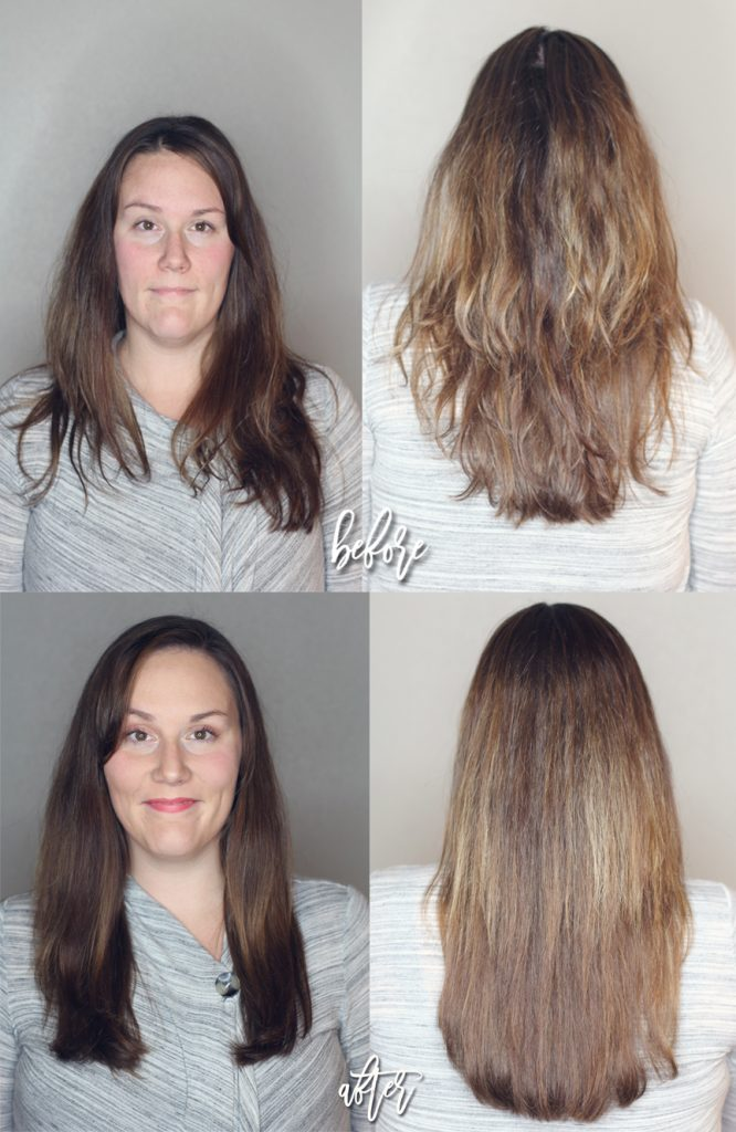before and after texture tame