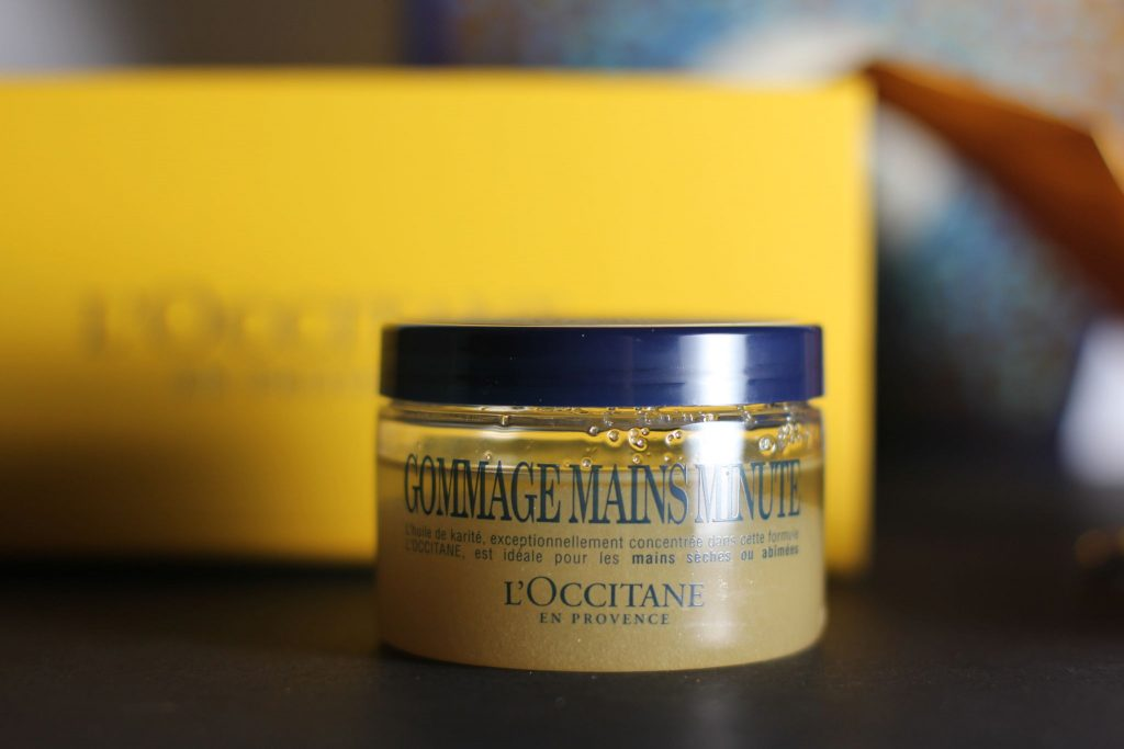 shea one minute hand scrub l'occitane