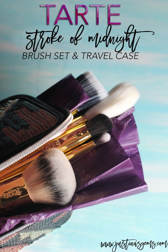 tarte stroke of midnight brush set and travel case