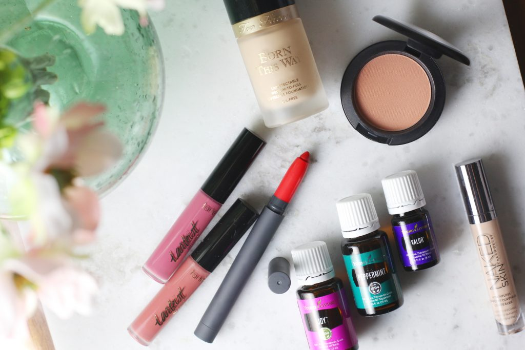 January beauty buys from Too Faced, Urban Decay, Tarte, MAC, Young LIving, and Bite Beauty