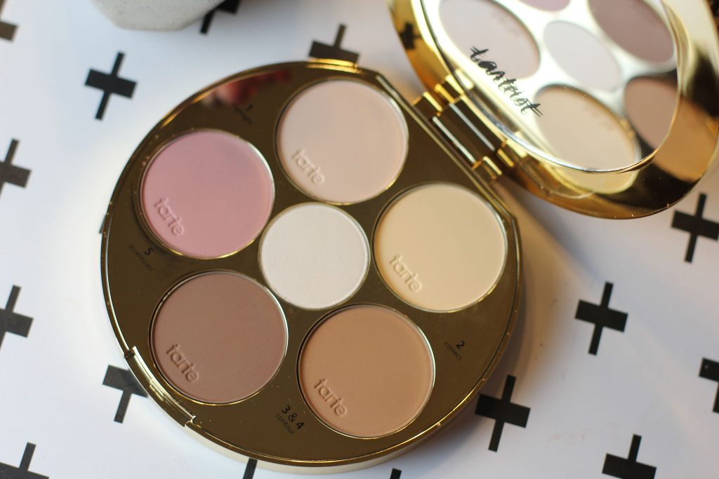 Tarteist Contour Palette has a blush, highlighter shades, and contour shades.