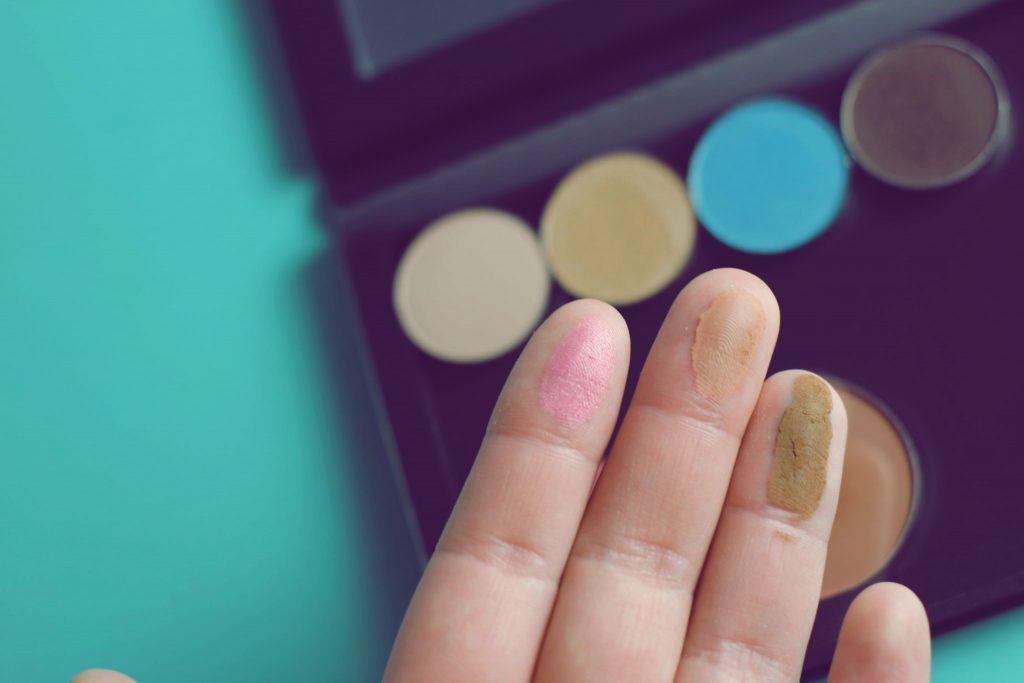 Ittse blush, bronzer, and brow swatches