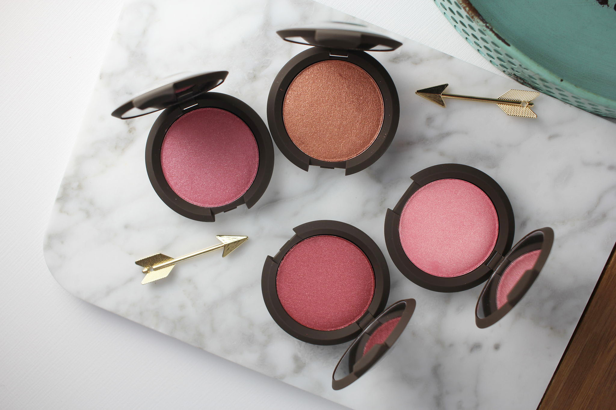Becca Skin Perfector Luminous Blushes, Camellia, Foxglove, Dahlia, Blushed Copper