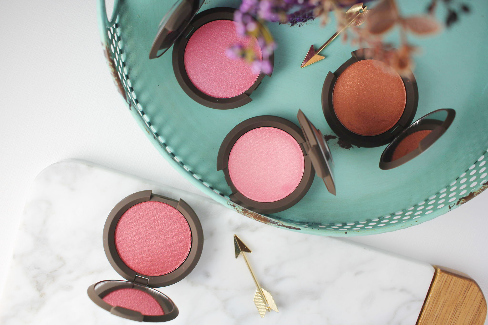Blushed Copper, Dahlia, Foxglove, Camellia Becca Skin Perfector Luminous Blushes copy