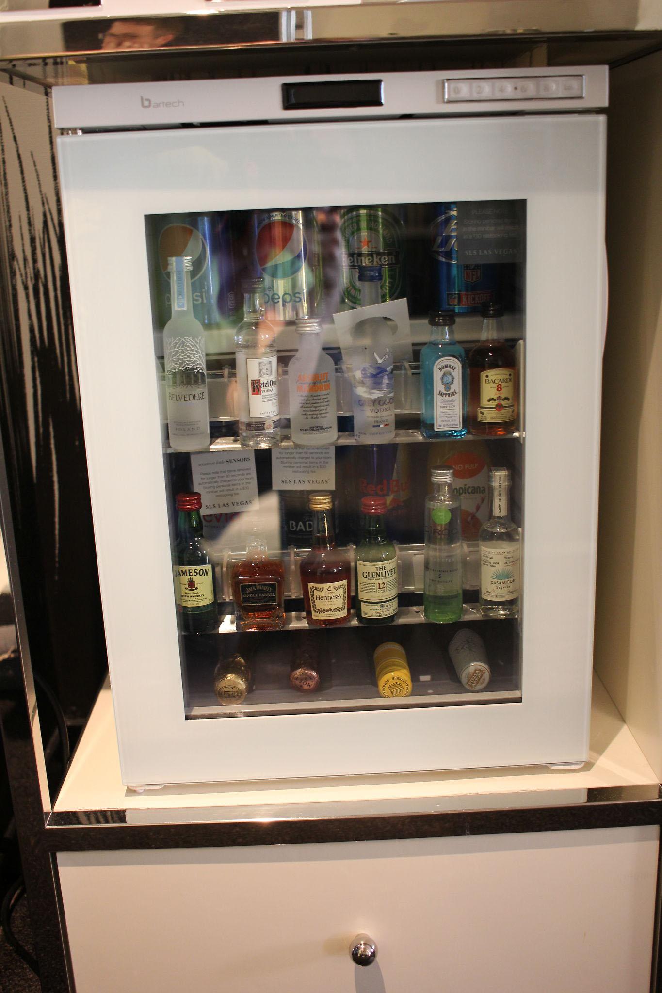 liquor fridge SLS Las Vegas