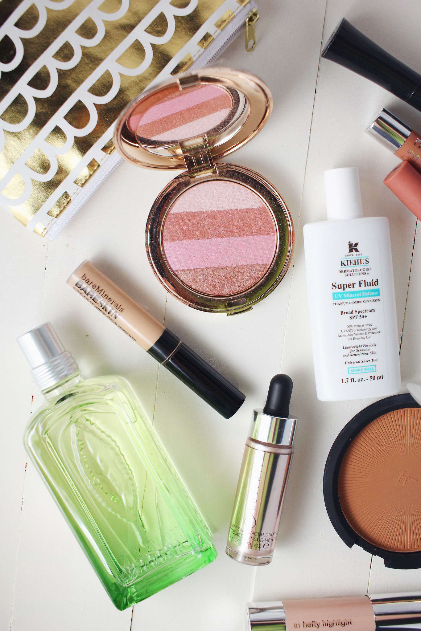 Summer Beauty Must Haves by Jane Iredale, Kiehl's, It Cosmetics, L'Occitane, Cover FX