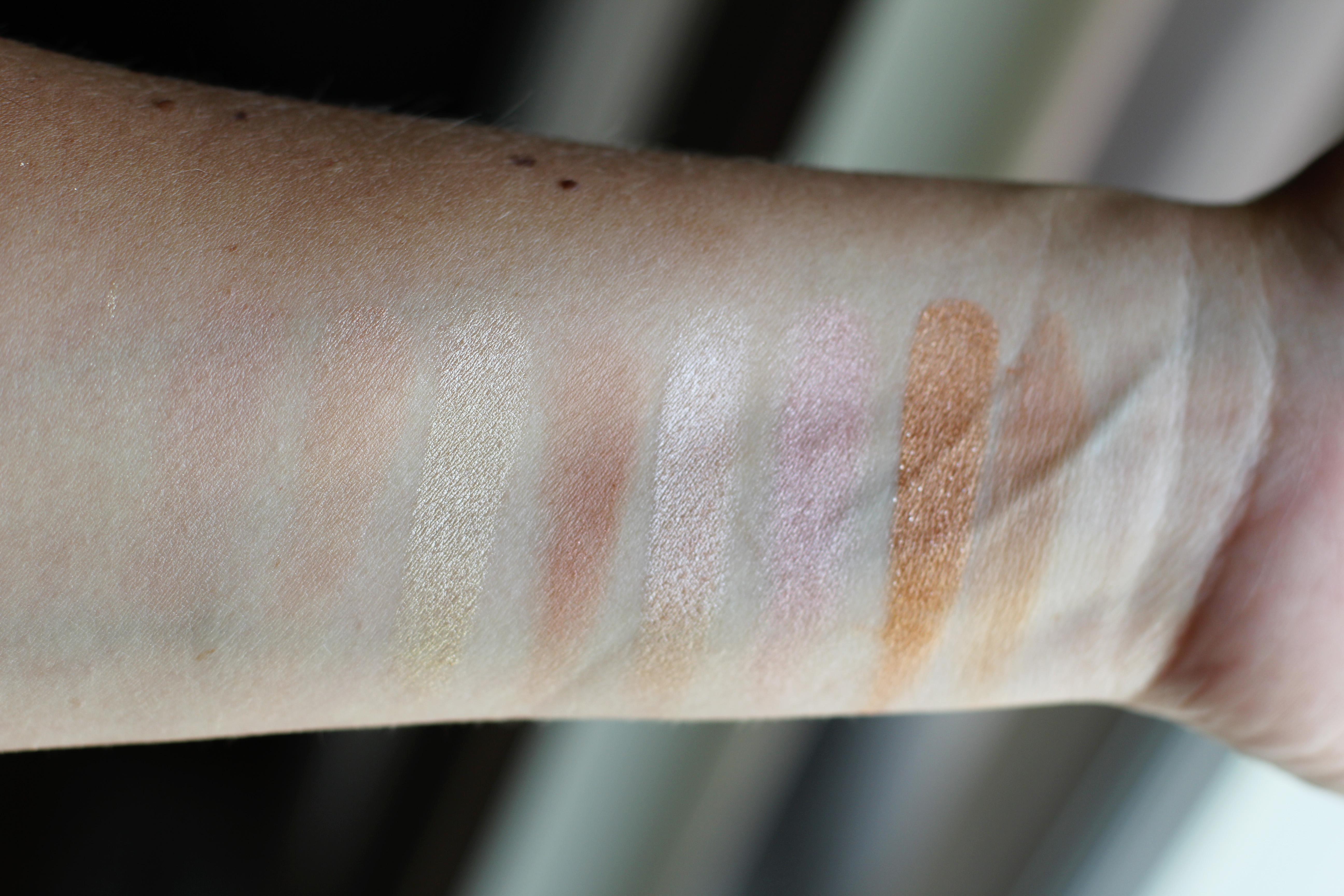 Makeup Revolution Golden Sugar 2 palette swatches