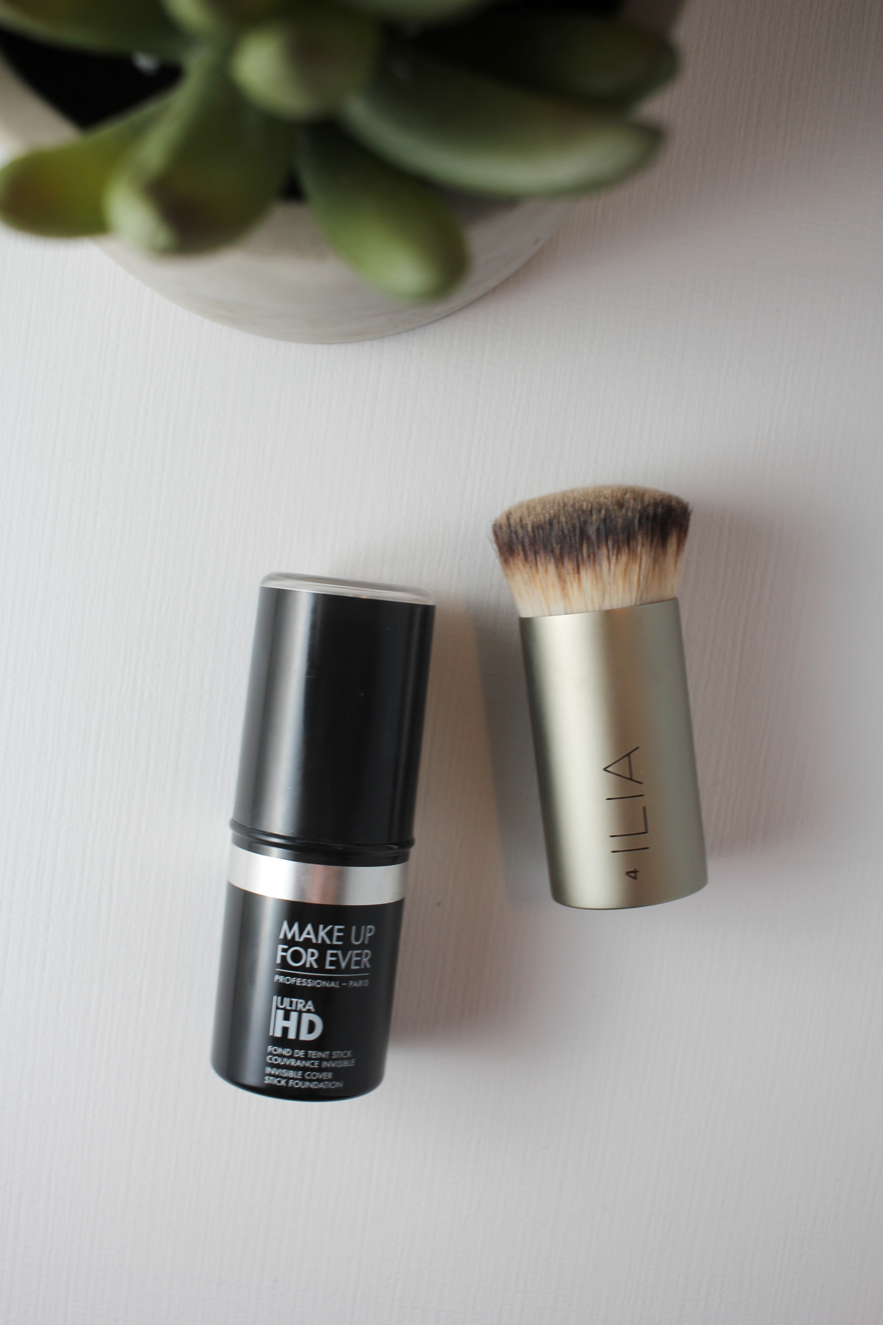 best-combo-for-setting-full-coverage-makeup-mufe-hd-foundation-stick-and-ilia-perfecting-buff-brush