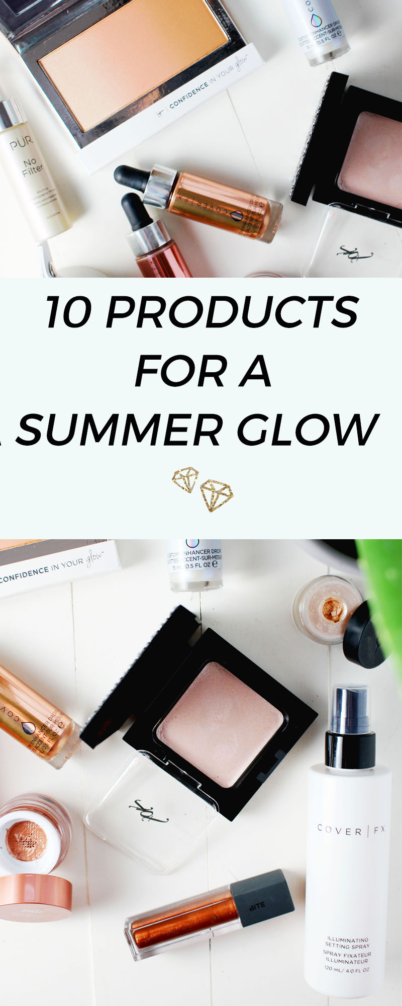 Beauty products that give a summer glow with highlighting and illumination qualities