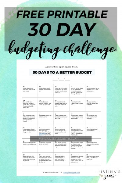 30 Days to a Better Budget (Free Printable!)