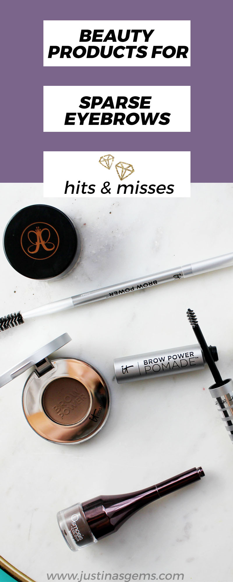 Beauty products for sparse eyebrows