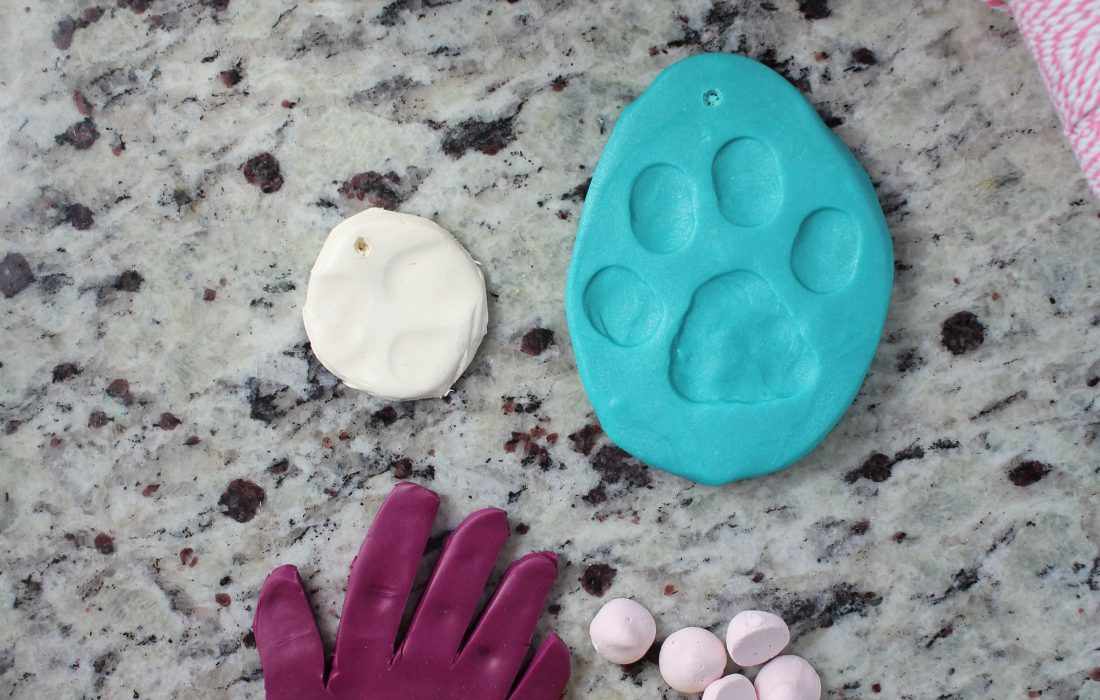 DIY Paw & Hand Print Christmas Ornaments