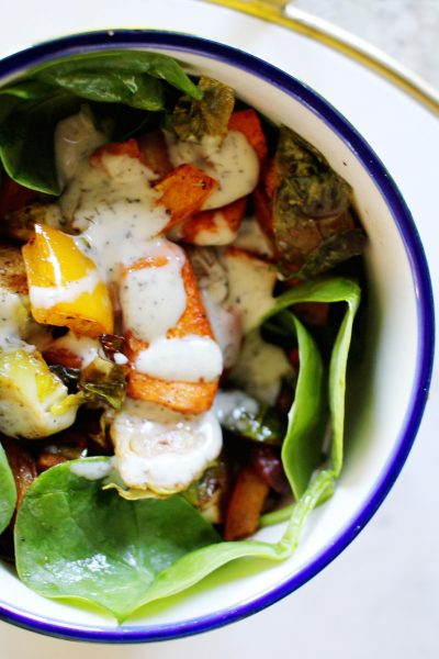 Roasted Fall Harvest Vegetable Salad