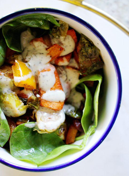 Roasted Fall Harvest Vegetable Salad