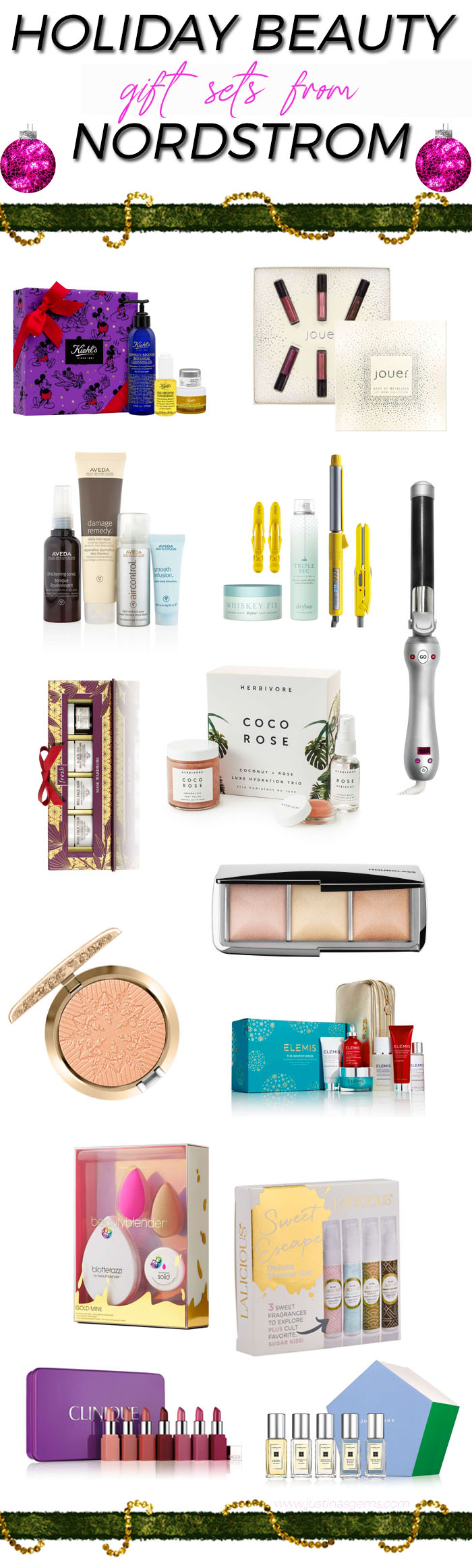 Holiday Beauty Gift Sets from Nordstrom #giftguide #holiday #beauty #nordstrom