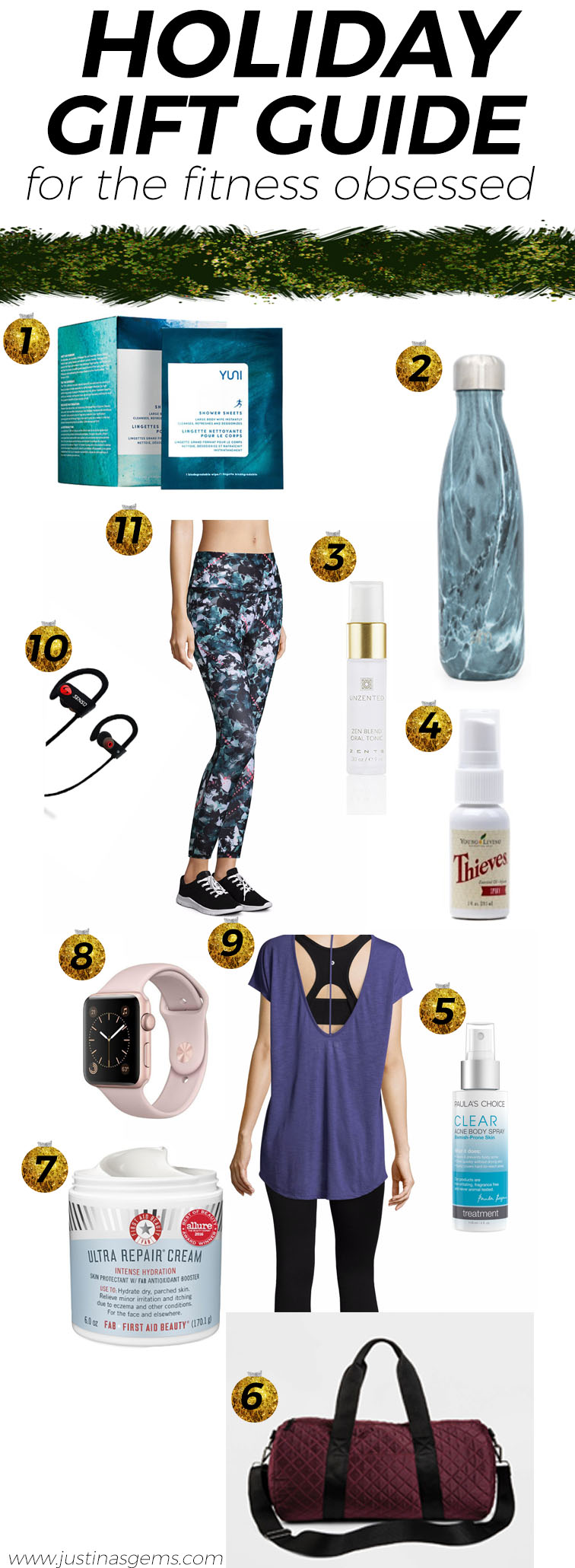 Holiday Gift Guide for the Fitness Obsessed Babe