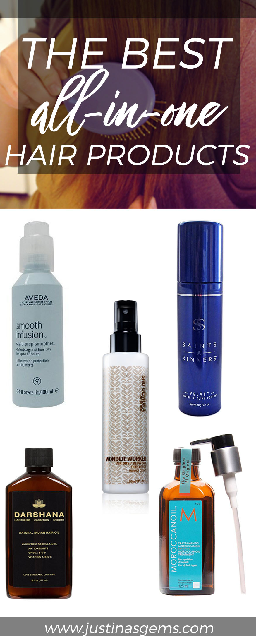 The Best All in One Hair Products- Great products for frizzy, thick, coarse, long hair that you can use to wash and go!