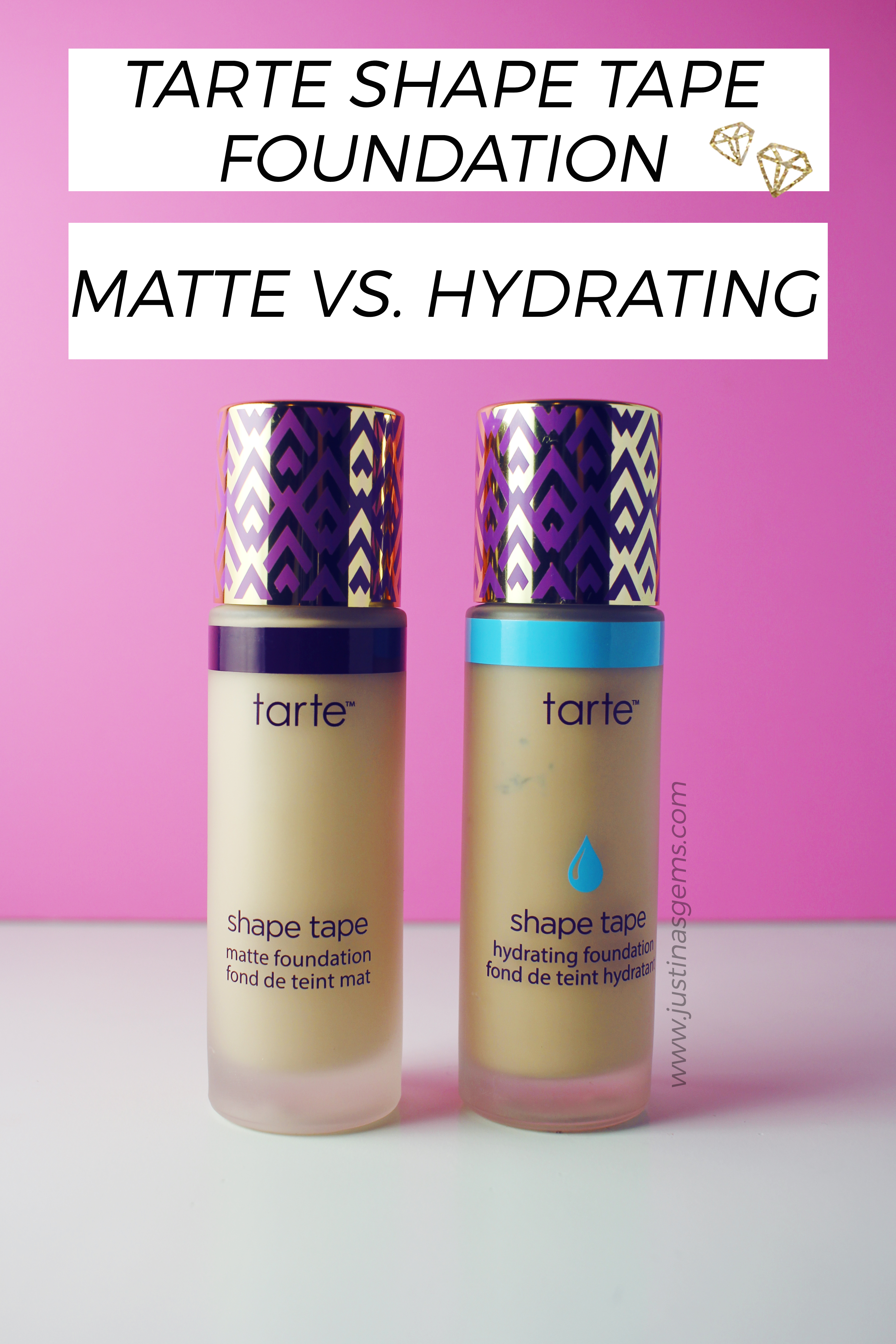 Comparing Shape Tape Matte and Hydrating on Fair Skin