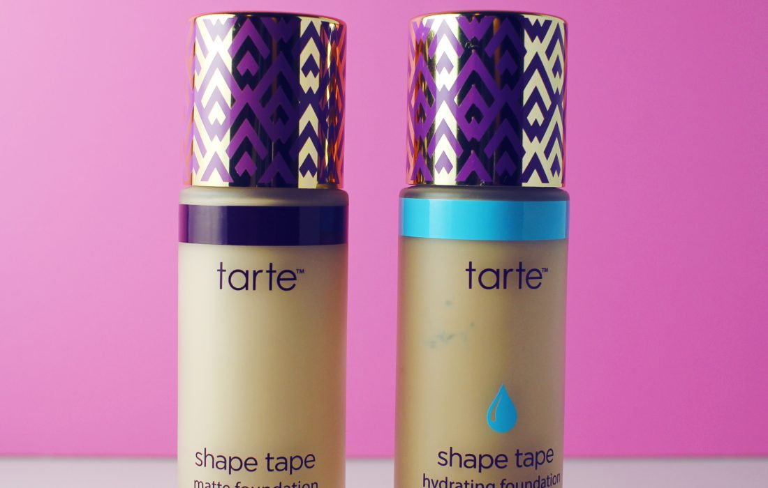 Comparing Tarte Shape Tape Foundations: Matte vs. Hydrating