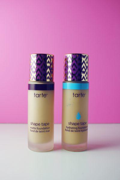 Comparing Tarte Shape Tape Foundations: Matte vs. Hydrating