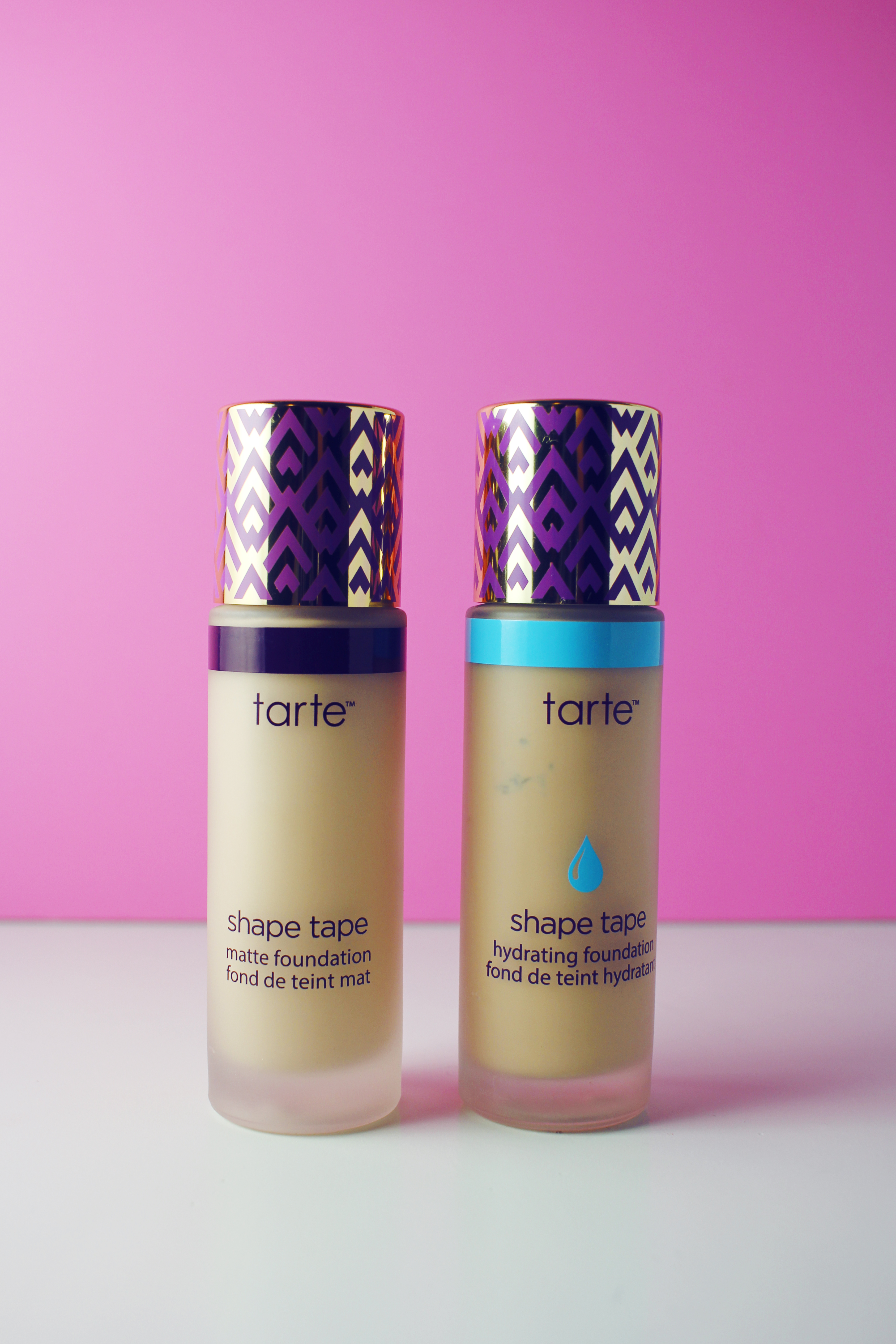 Comparing Shape Tape Matte and Hydrating Foundations by Tarte Cosmetics