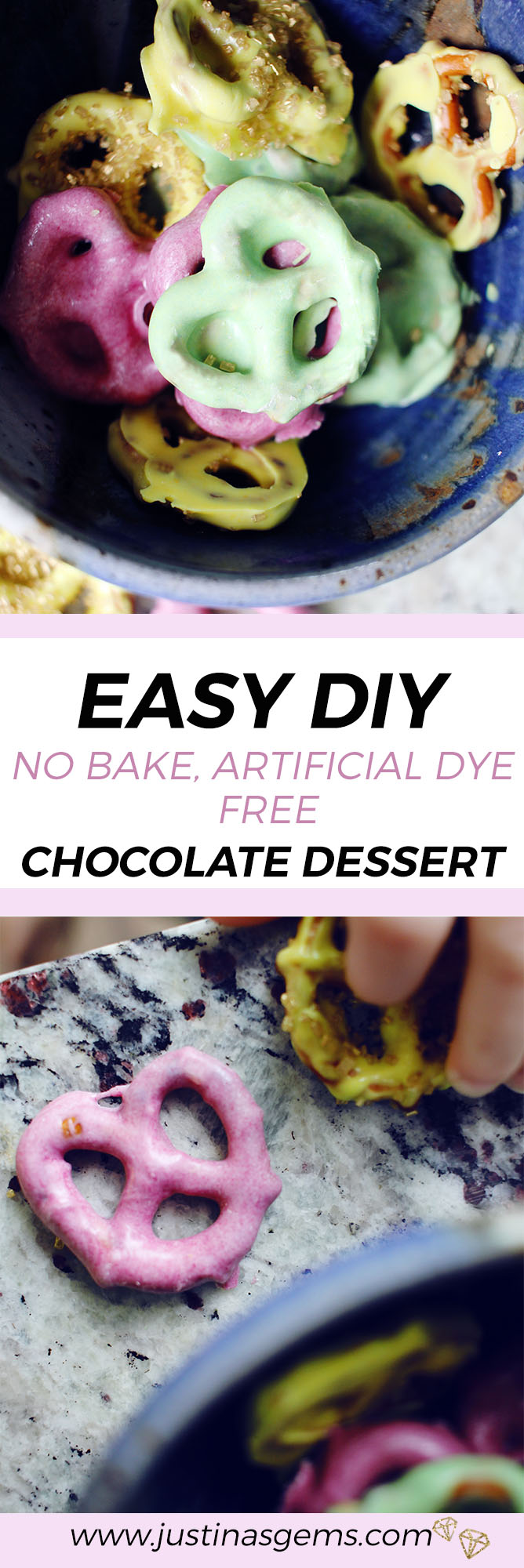 Easy DIY No Bake, Artificial Dye Free Chocolate Dessert