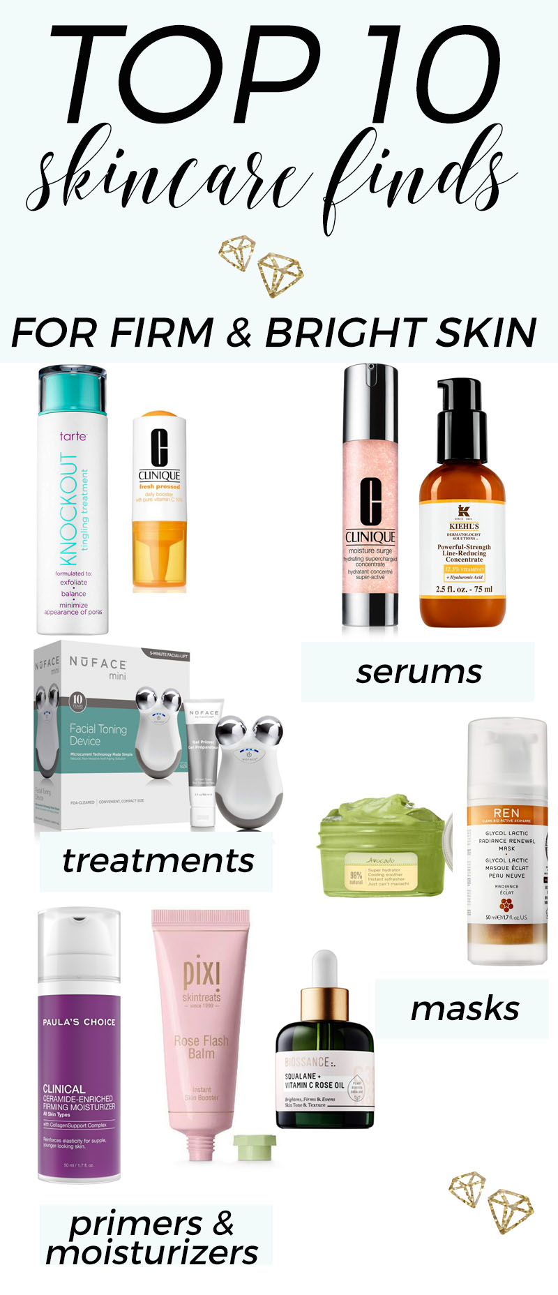 Top 10 Skincare Finds for Firm and Bright Skin