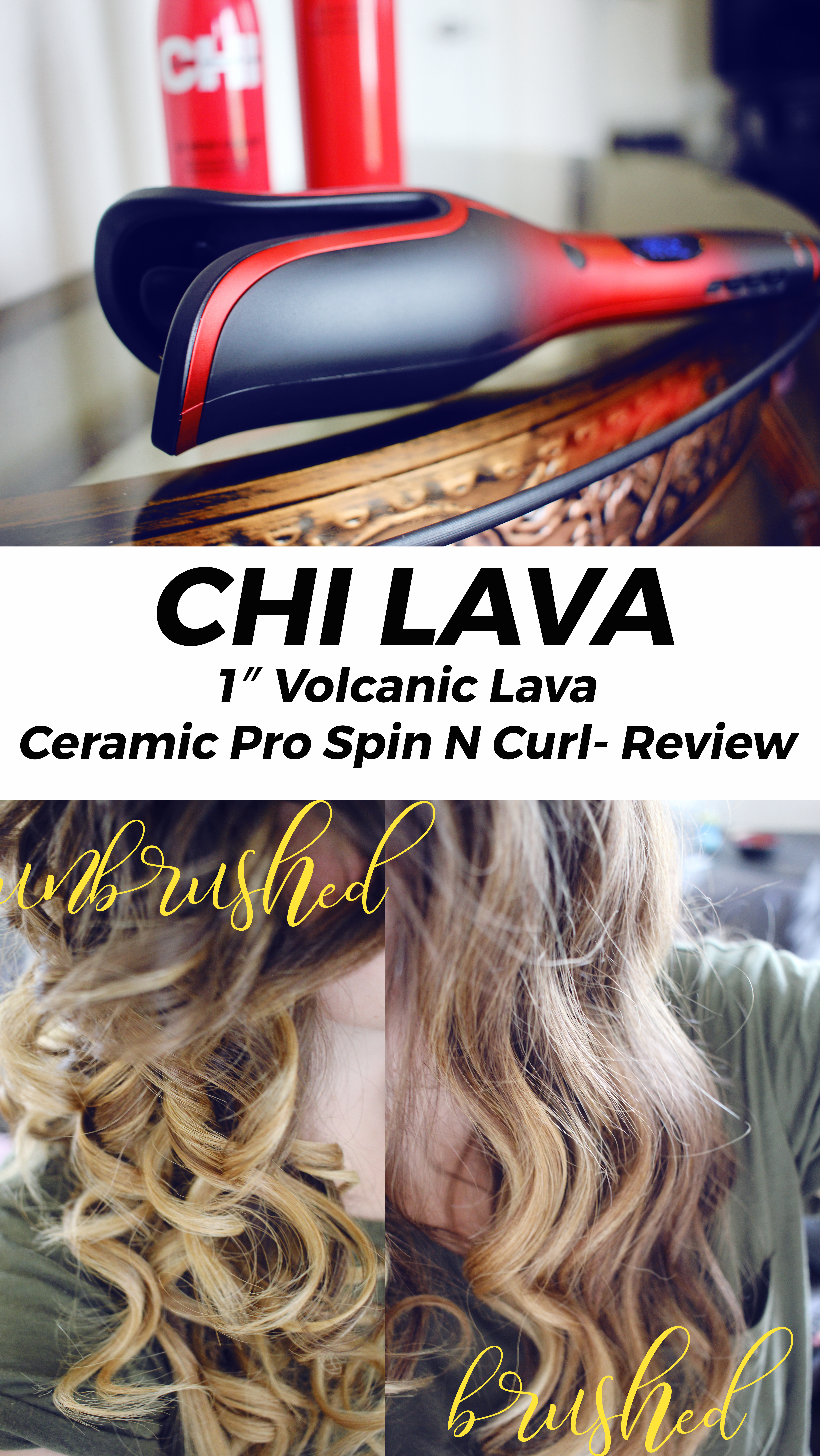 "Chi Lava 1"" Volcanic Lava Ceramic Pro Spin N Curl"