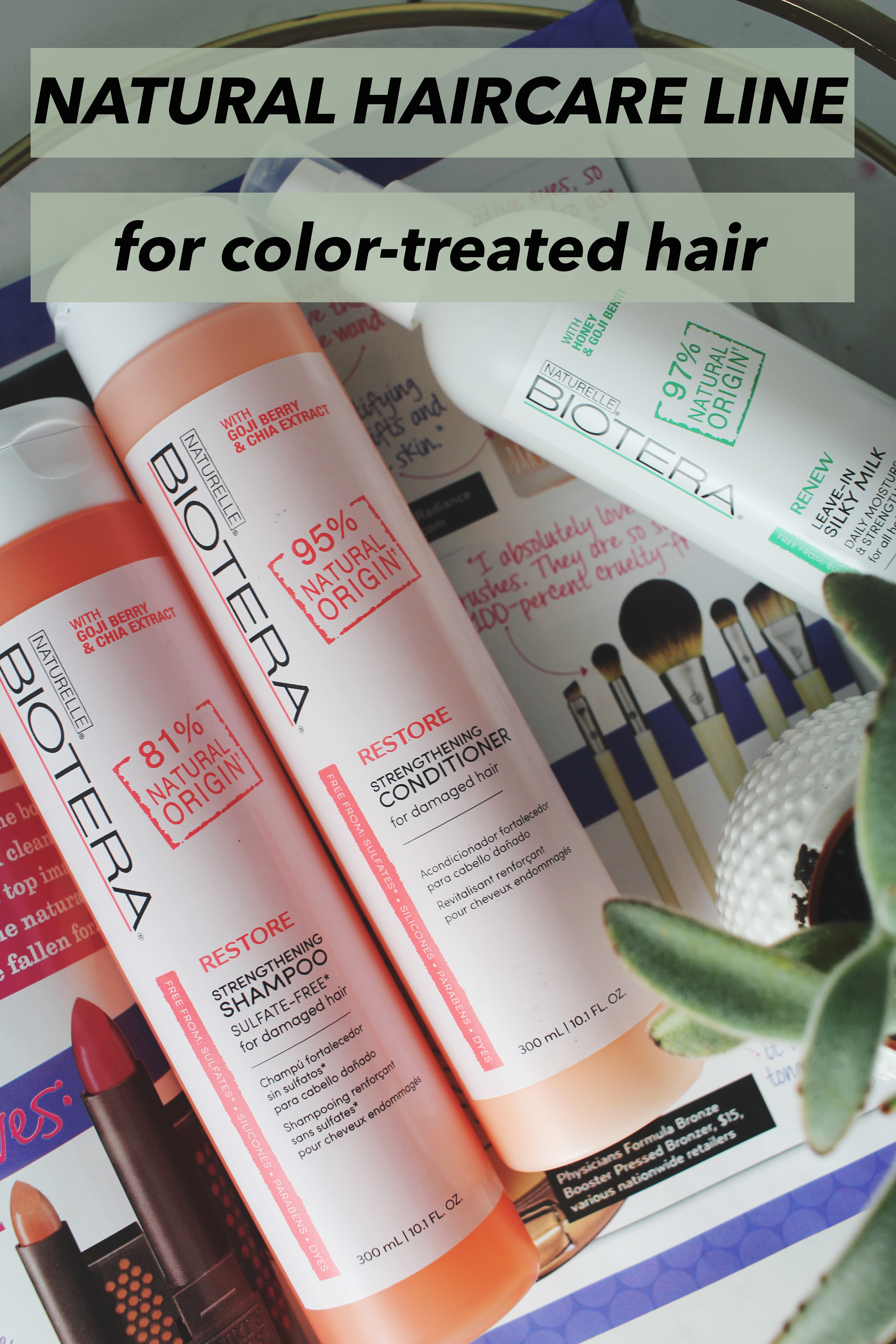 Natural Haircare Line for Color-Treated Hair